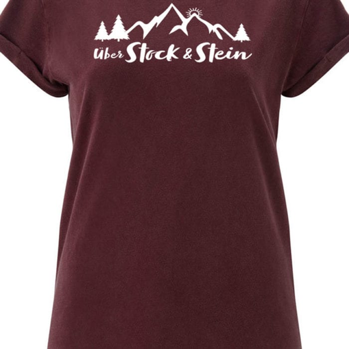 T-Shirt – Rolled-up – Stone Burgundy